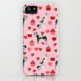 Great Dane valentines day dog person must have gifts to say i ruff you iPhone Case