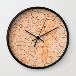 Cracked dry land pattern Wall Clock