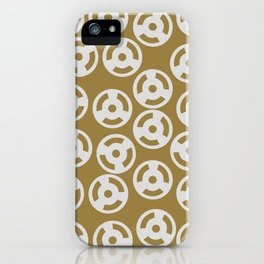 Discs Silver on Gold iPhone Case