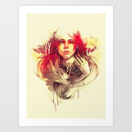 Purity In Red Art Print