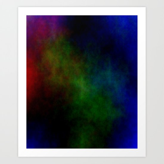 Tinted Clouds Art Print