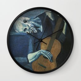 The Old Guitarist Wall Clock