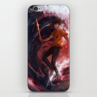 percy jackson iPhone & iPod Skins featuring Dark Percy by k1216