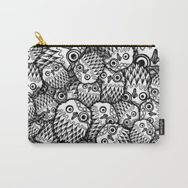Owl with monocle Carry-All Pouch
