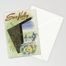 Vintage poster - Sun Valley, Idaho Stationery Cards