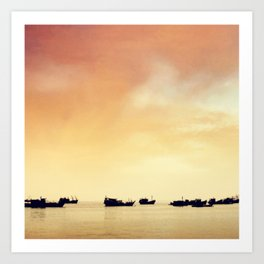 Sea of Boats Art Print