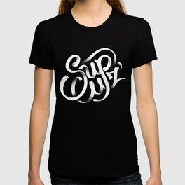 Sup Cuz - Typographic Lock-up T-shirt