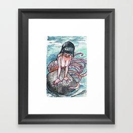 Squidette Framed Art Print