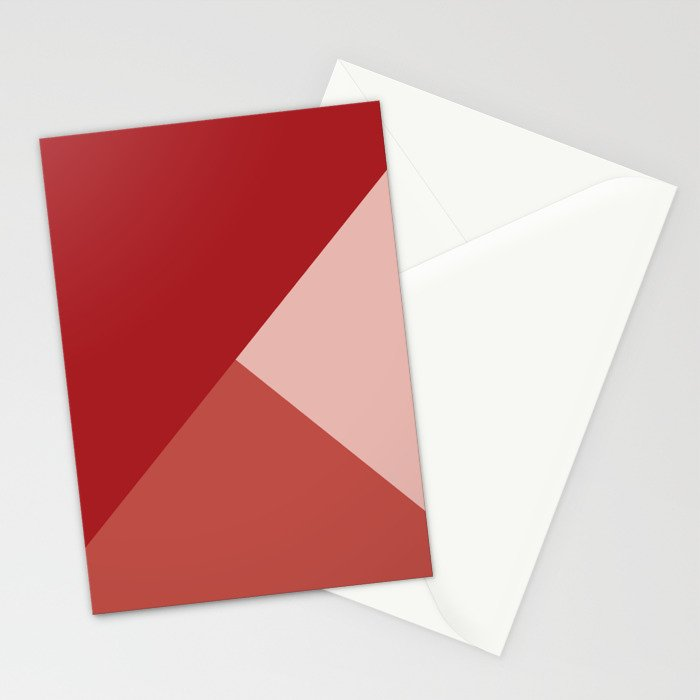 Red Tones Stationery Cards