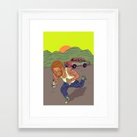 teen wolf Framed Art Prints featuring Teen wolf  by Zé Burnay