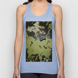 Abstract leaves mosaik Unisex Tank Top
