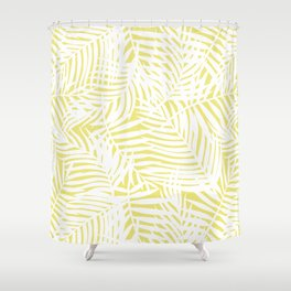 Tropical Limelight Leaves Shower Curtain