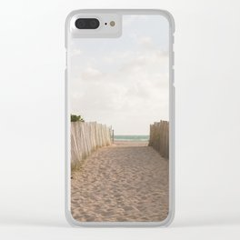 Beach Bound Clear iPhone Case