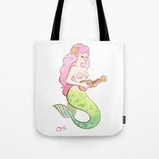 ukulele mermaid Tote Bag