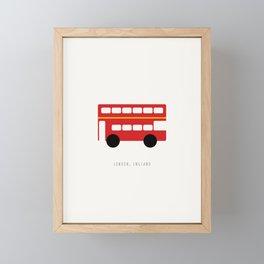 London Red Bus Framed Mini Art Print