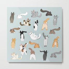 Cat Butts Metal Print