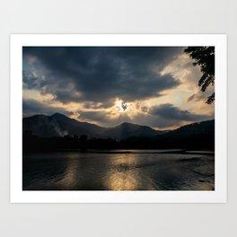 Shining Eye on the Sky Art Print