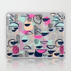 Rumba - pattern print retro cool hipster art colorful feminine shapes abstract Laptop & iPad Skin