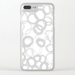 Watercolor Circle Gray Clear iPhone Case