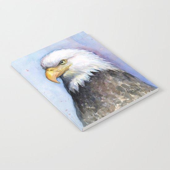 Bald Eagle Watercolor Bird Wildlife Animals Notebook