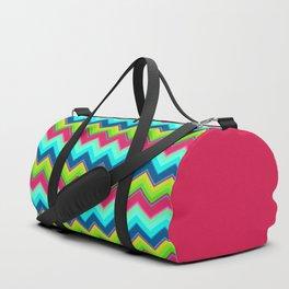 Bright Ziggy Zag Duffle Bag
