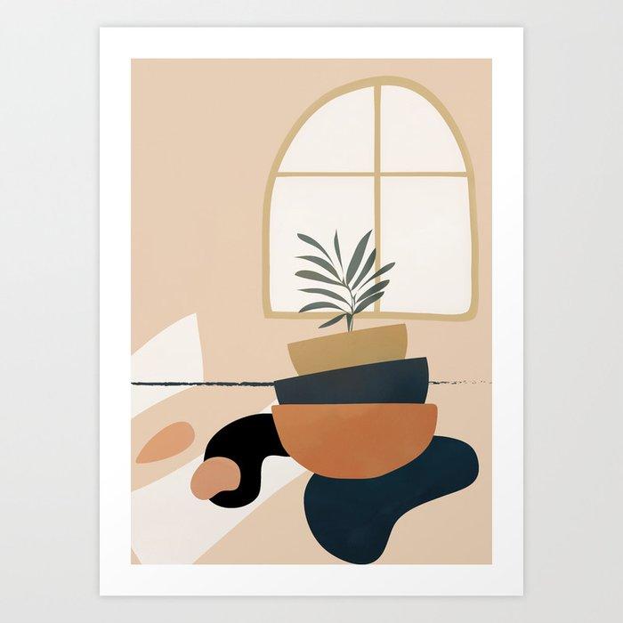 Plant in a Pot Art Print