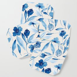 Prussian Floral Coaster