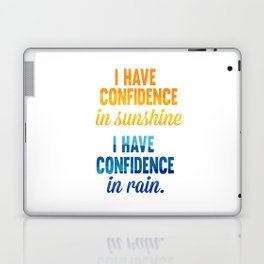 i have confidence in sunshine... sound of music inspirational quote Laptop & iPad Skin