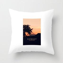 Sunset City Throw Pillow
