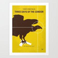 No659 My Three Days of the Condor minimal movie poster Art Print