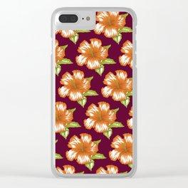 Sawyer Burgundy Clear iPhone Case