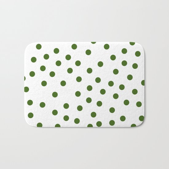 Simply Dots in Jungle Green Bath Mat