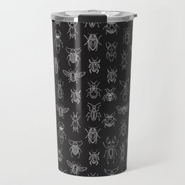 Insects Pattern (Black) Travel Mug