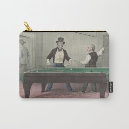 Vintage Billiards Game Illustration (1874) Carry-All Pouch