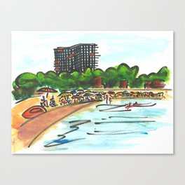 Platja d'Aro. (Summertime). Canvas Print