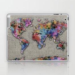 world map splatter vintage Laptop & iPad Skin