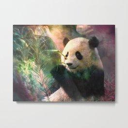 Sanctuaire du grand panda Metal Print