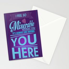 Miserable Print Stationery Cards
