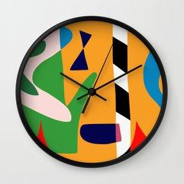 Bold and vibrant abstract shapes Wall Clock