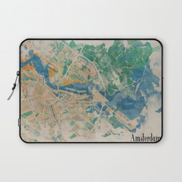 Amsterdam, the watercolor beauty Laptop Sleeve