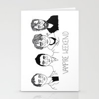 vampire weekend Stationery Cards featuring Vampire Weekend by ☿ cactei ☿