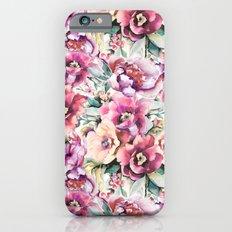 Watercolor peonies pattern Slim Case iPhone 6s