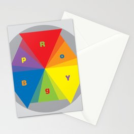 Color wheel by Dennis Weber / Shreddy Studio with special clock version Stationery Cards
