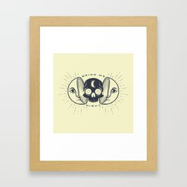 Kill the Sun, Bring Me Night Framed Art Print