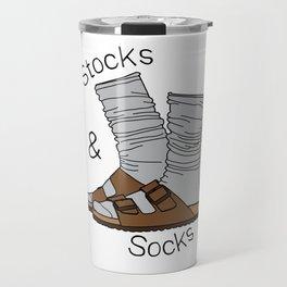Stocks and Socks Travel Mug