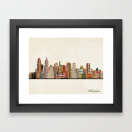 philadelphia skyline Framed Art Print