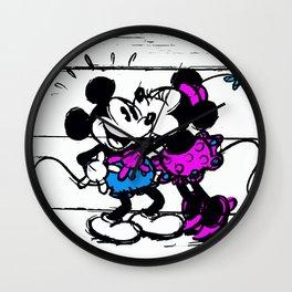 Mickey and Minnie Wall Clock