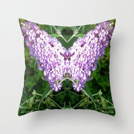 Buddleia Butterfly Throw Pillow