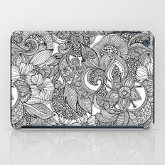 Flowers and doodles iPad Case