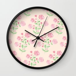 By the lake- roses Wall Clock